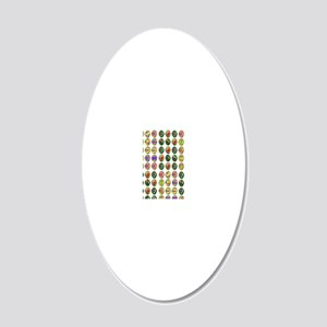 Peace Circles 20x12 Oval Wall Decal