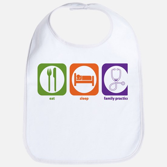 Eat Sleep Family Practice Bib