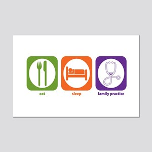 Eat Sleep Family Practice Mini Poster Print