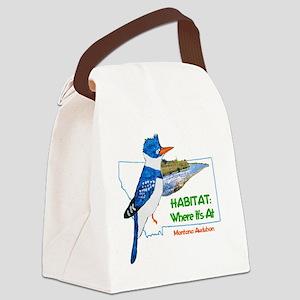 Montana Audubon Habitat: Where It Canvas Lunch Bag