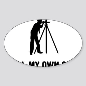 Land-Surveyor-03-A Sticker (Oval)