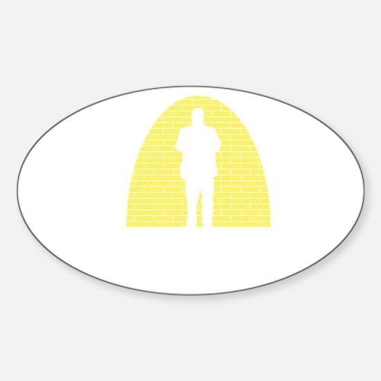 Standup-Comedian-03-B Sticker (Oval)