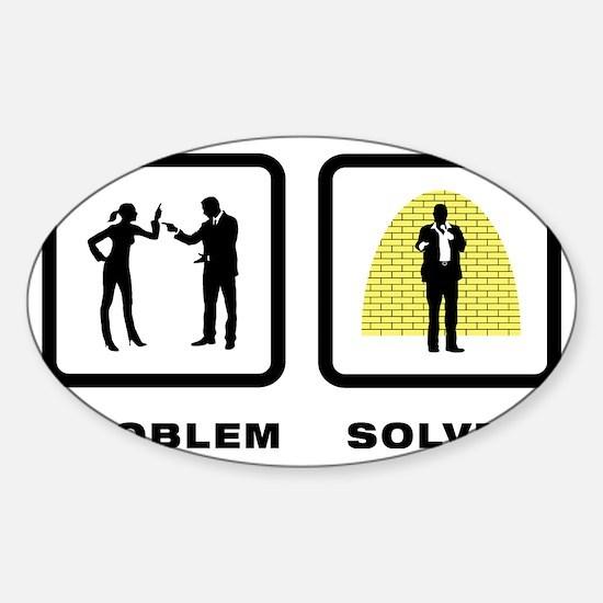 Standup-Comedian-10-A Sticker (Oval)