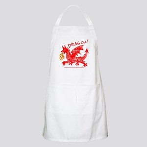 Red Gestural Dragon BBQ Apron