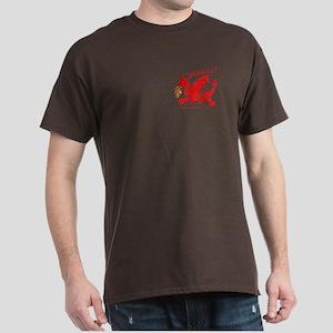 Red Gestural Dragon Dark T-Shirt