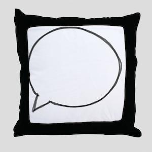 Speech Bubble Throw Pillow