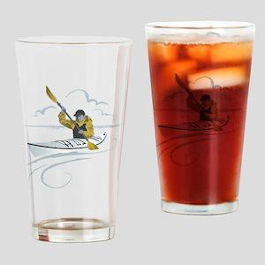 Kayak Guy Drinking Glass