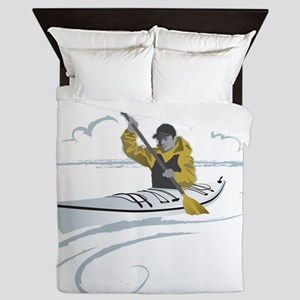 Kayak Guy Queen Duvet
