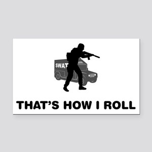 SWAT-Police-12-A Rectangle Car Magnet