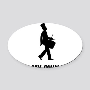 Marching-Band---Snare-Drum-03-A Oval Car Magnet