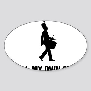 Marching-Band---Snare-Drum-03-A Sticker (Oval)