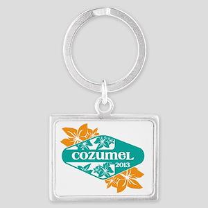 Cozumel T-shirt Landscape Keychain
