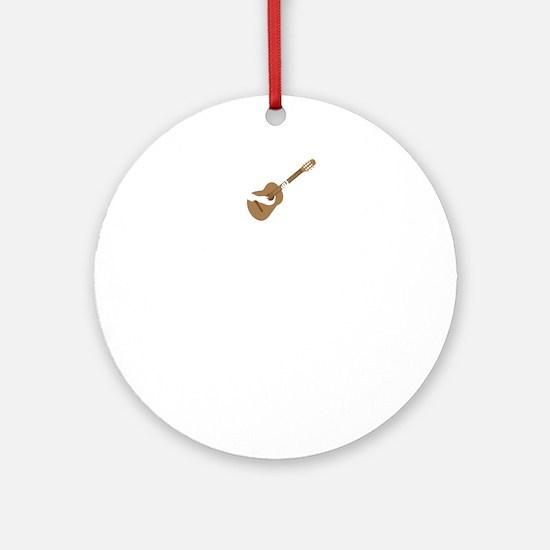Classical-Guitar-02-B Round Ornament