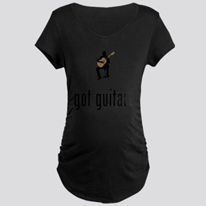 Classical-Guitar-02-A Maternity Dark T-Shirt