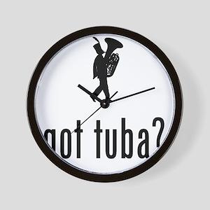 Marching-Band---Tuba-02-A Wall Clock