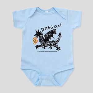 Black Gestural Dragon Infant Bodysuit