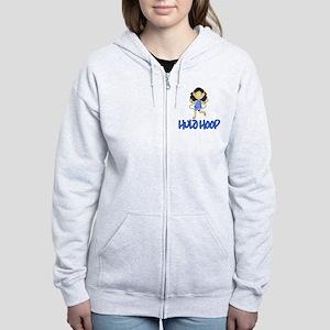 Hula Hoop -Blue- Women's Zip Hoodie