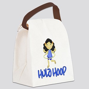 Hula Hoop -Blue- Canvas Lunch Bag