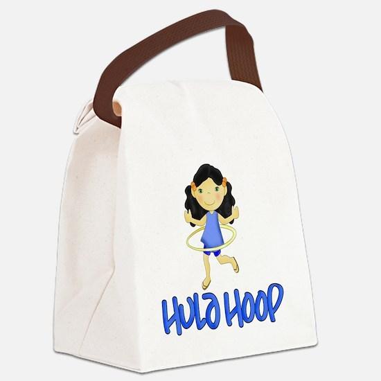 Hula Hoop -Blue- Canvas Lunch Bag