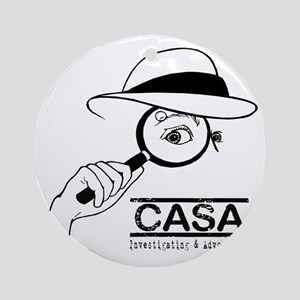 CASA Detective Round Ornament