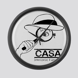 CASA Detective Large Wall Clock