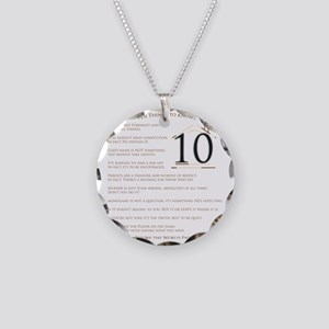 Top Ten Things to Know2 Necklace Circle Charm