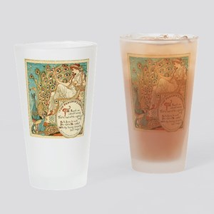 Aesops Peacock Drinking Glass