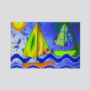 CP Sailboat 1 Rectangle Magnet