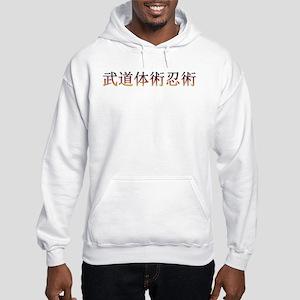 Taijutsu Fire Hooded Sweatshirt (gray Heather)