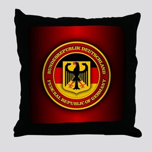 German Emblem Throw Pillow