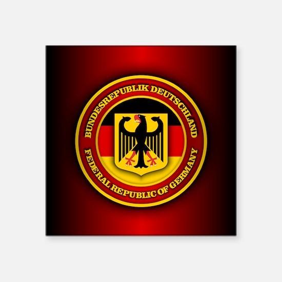 """German Emblem Square Sticker 3"""" x 3"""""""