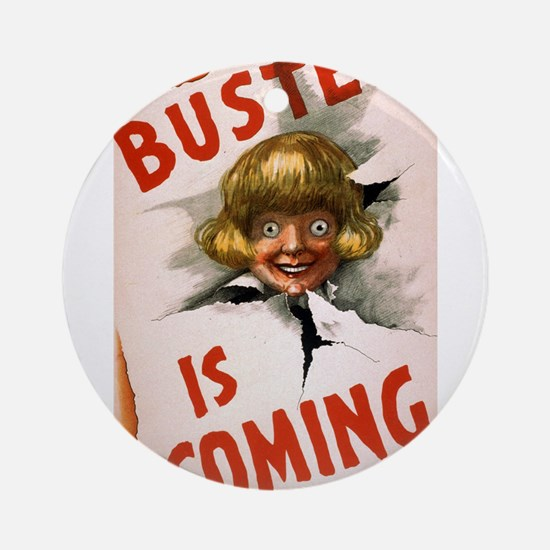 Buster is coming - US Lithograph - 1907 Round Orna