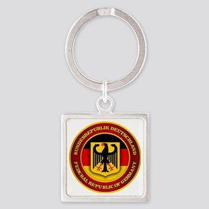 German Emblem Square Keychain