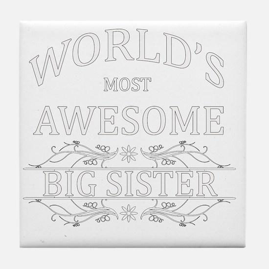 big sister Tile Coaster