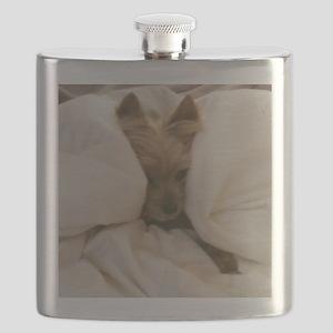 Yorkie Sleepy Flask
