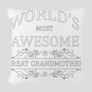 great grandmother Woven Throw Pillow