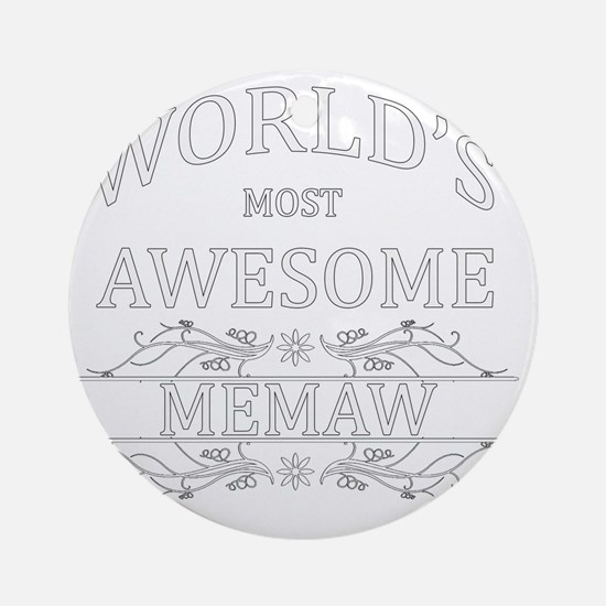 memaw Round Ornament
