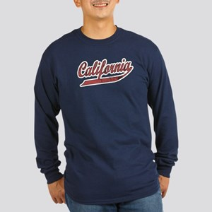 California Red Long Sleeve Dark T-Shirt