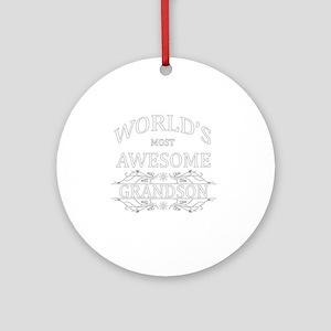 grandson Round Ornament