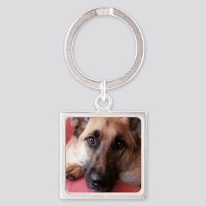 German Shepherd Square Keychain