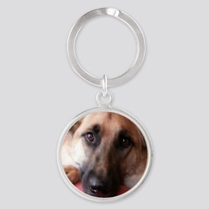 German Shepherd Round Keychain