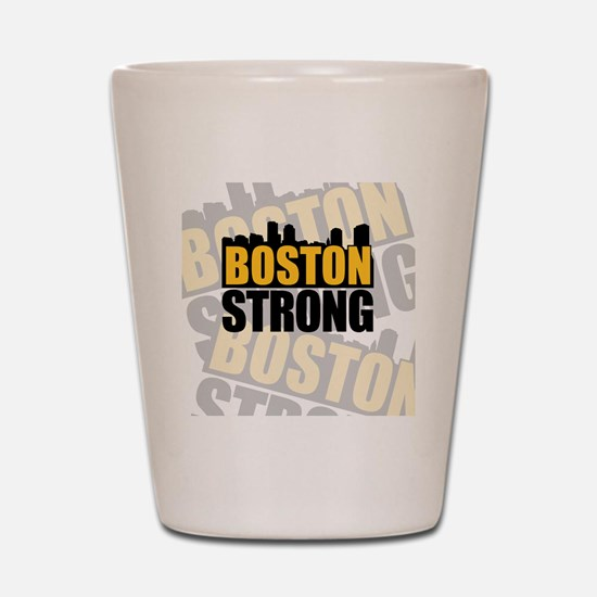 Boston Strong Orange Black Shot Glass