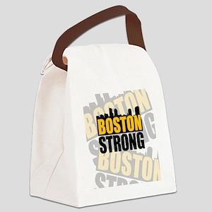 Boston Strong Orange Black Canvas Lunch Bag