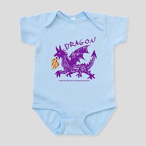 Purple Gestural Dragon Infant Bodysuit