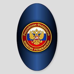 Russia COA (iphone snap) blue Sticker (Oval)