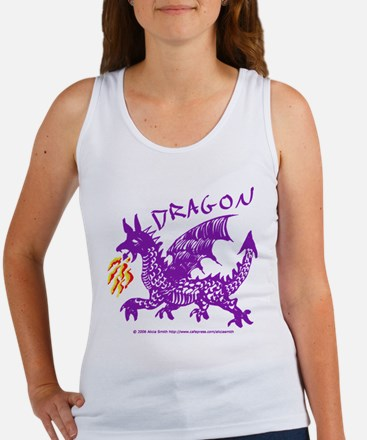 Purple Gestural Dragon Women's Tank Top