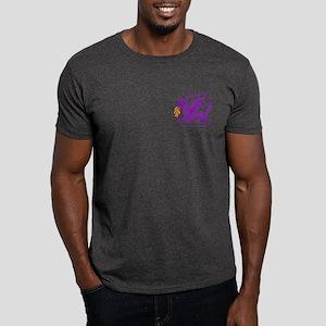 Purple Gestural Dragon Dark T-Shirt