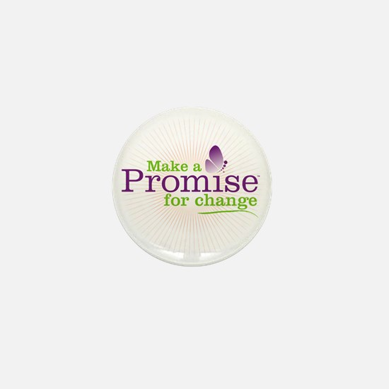 Make a Promise For Change on White Mini Button
