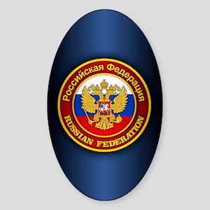 Russia COA (iphone 5) blue Sticker (Oval)