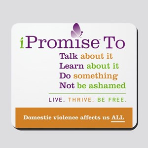 iPromise To...on White Mousepad